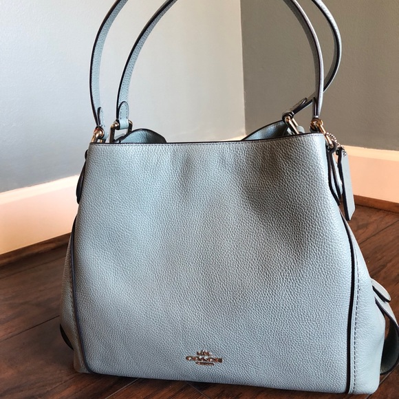 9c4faba641 Coach Cloud Blue Leather Edie Shoulder Bag